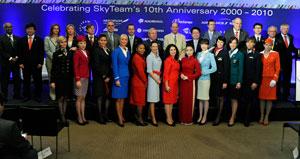 Skyteam celebra su décimo aniversario