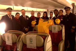 El A330 que llevará a la Selección de Brasil a la Copa del Mundo tendrá mensajes de los aficionados