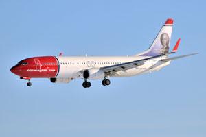 Iconos suecos en los aviones de Norwegian