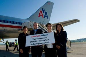 American Airlines inaugura su nuevo vuelo de Madrid a New York (JFK)