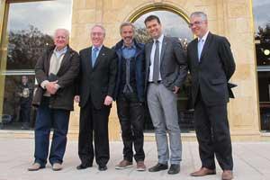 De izquierda a derecha Juan Echanove, Josep Poblet, Imanol Arias, Josep Maria Cruset y Octavi Bono