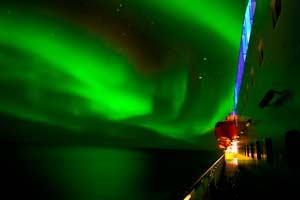Hurtigruten y las auroras boreales