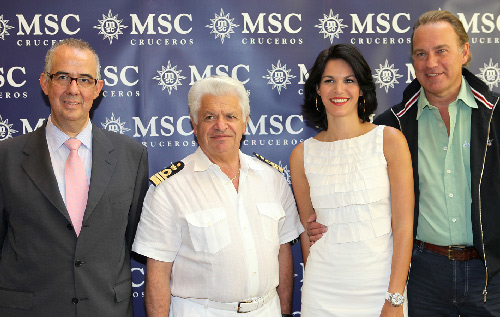 Bertín Osborne y Fabiola Martínez presentan MSC Yatch Club a bordo de MSC Fantasía