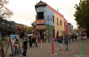 Barrio de La Boca, en Buenos Aires