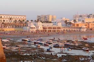 Cadiz - Castillo Santa Catalina - Playa de la Caleta