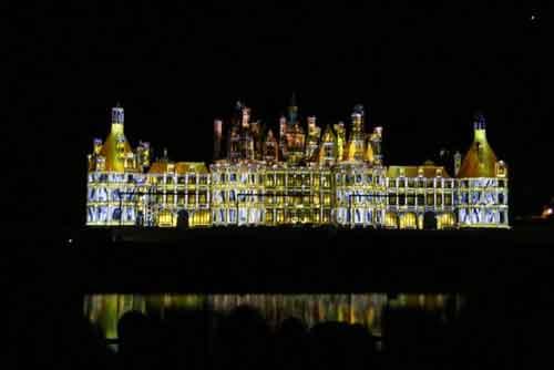 Espectáculo de luces en el castillo de Chambord