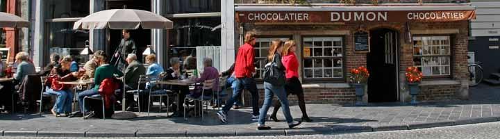 Las Chocolaterías Dumon son unas de las más conocidas en Brujas