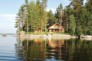 Veranea como un finlandés en una cabaña en plena naturaleza