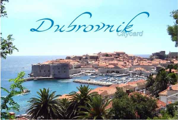 Tarjeta turística de Dubrovnik