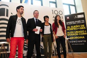 De izquierda a derecha, Alex Ubago, Alberto Ruiz-Gallardón, Raquel del Rosario y Georgina