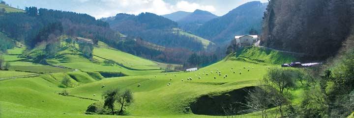 Valle de Lastur, en Deba