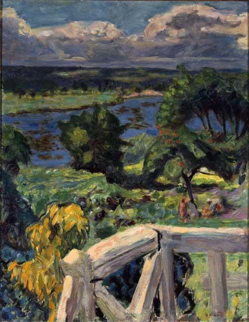 Pierre Bonnard—Coup de Soleil (La Terraza de Mi Roulotte en Vernonnet),1916 Óleo 53 x 41 cm Colección privada © Derechos reservados