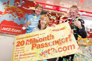 Jet2.com alcanza los 20 millones de pasajeros transportados