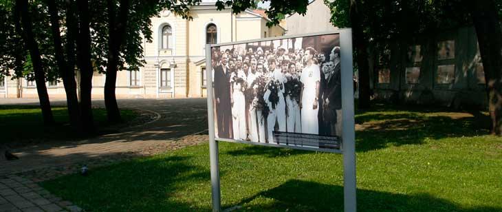 Entrada al recinto donde se encuentra el Palacio Presidencial de Lituania