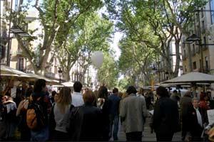 La Rambla de Barcelona, uno de sus lugares más turísticos