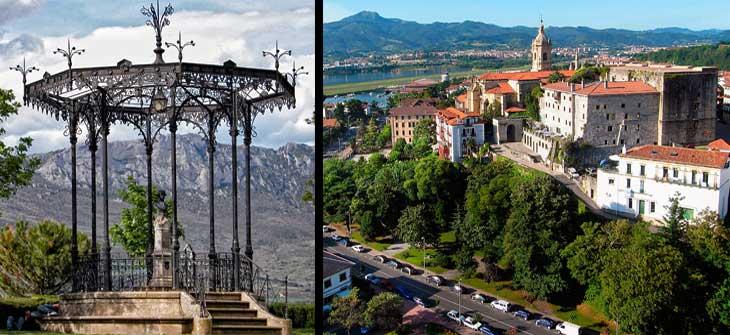 Izquierda, Laguardia. Derecha, Hondarribia