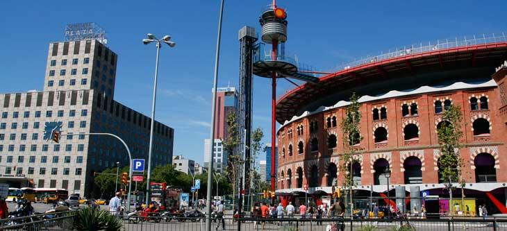 Vistas del Centro Comercial Las Arenas de Barcelona