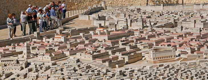 Maqueta de Jerusalén en el Museo de Israel