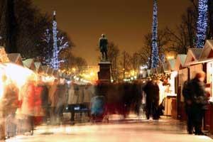 Mercado de Navidad en Helsinki