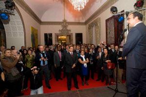 El ministro de turismo de Colombia, Sergio Díaz Granados, durante su intervención