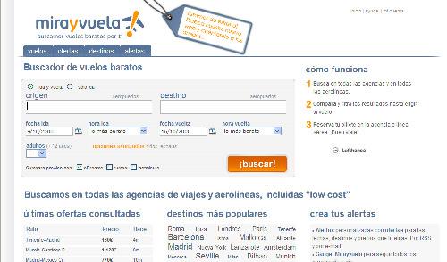 """Mirayvuela.com pone en marcha el """"Observatorio de vuelos"""""""