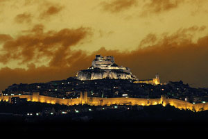 Vista nocturna de Morella