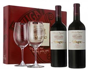 Muga presenta una caja exclusiva que incluye dos copas Riedel