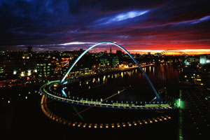 Millennium Bridge de Newcastle