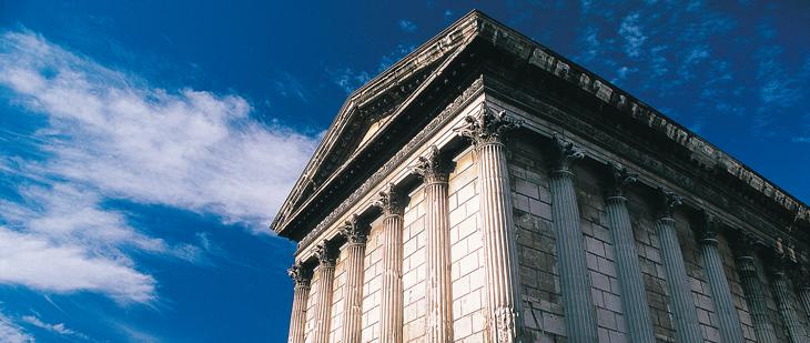 Maison Carrée, en Nimes. Foto de © B.Liegeois.