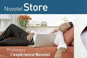 Novotel, marca hotelera de media gama del grupo Accor, quiere reforzar el vínculo con sus clientes desarrollando una tienda online bajo su nombre: novotelstore.com.