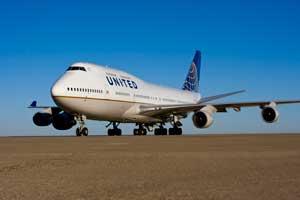 El Boeing 747 estrena los colores de la nueva United