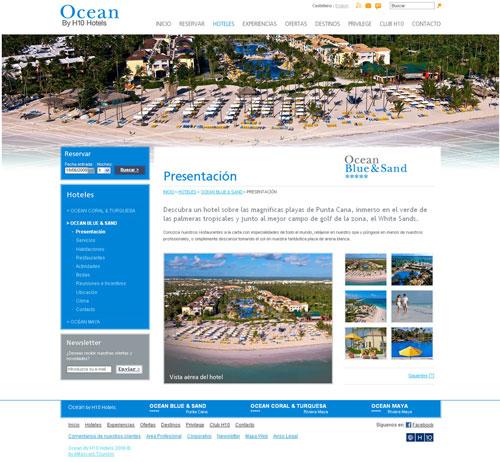 H10 Hotels lanza la nueva web de Ocean, la enseña de sus hoteles en el Caribe