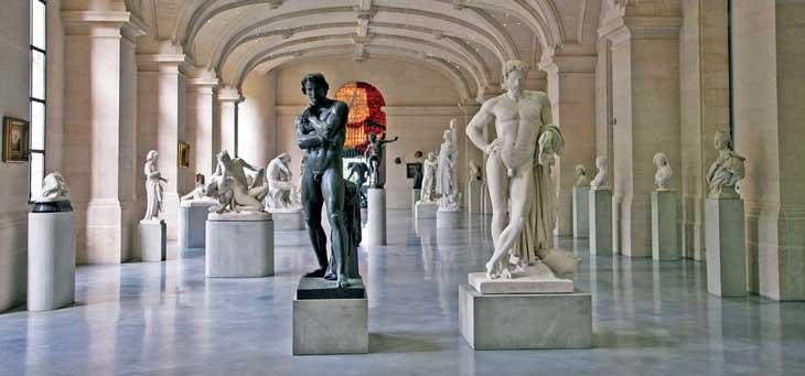 Galería de esculturas del Palacio de las Bellas Artes de Lille © Don Muschter Steden