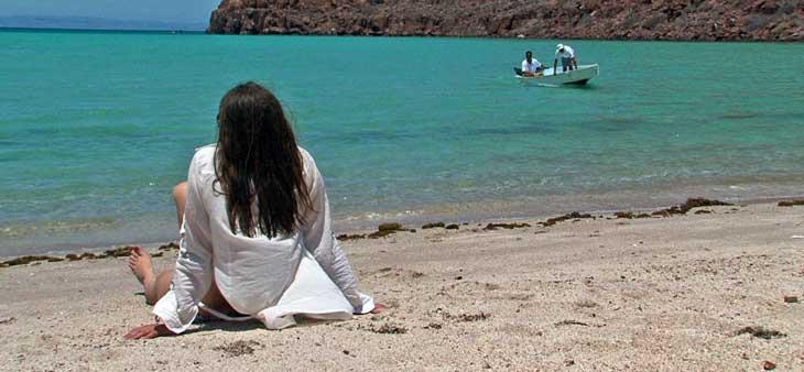 Playa en la isla de Espíritu Santo/Foto Juan Coma