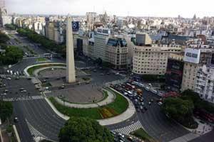 Vistas del Obelisco desde el Hotel Panamericano de Buenos Aires