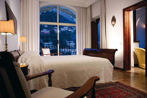 Las habitaciones del Hotel Poseidon Positano están decoradas de una manera muy refinada