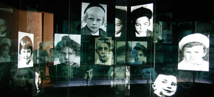 Sección de los niños en Museo del Holocausto. Más de millón y medio de menores judíos murieron asesinados durante el genocidio nazi.