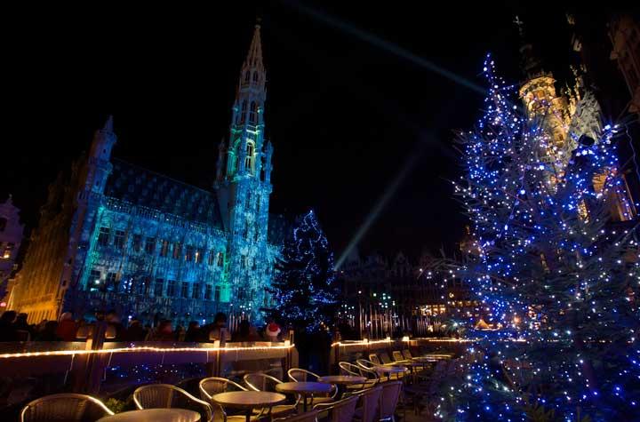 Espectáculo de luces en la Grand Place. © OPT Alex Kouprianoff