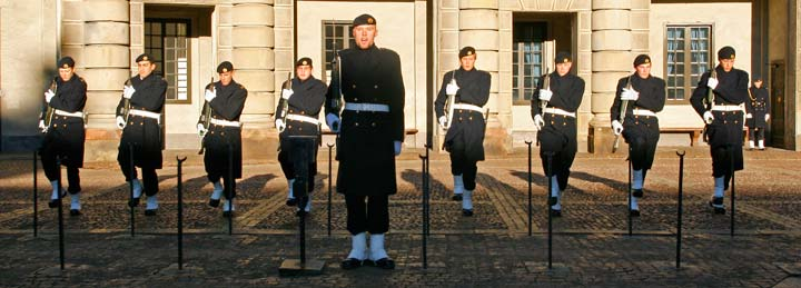 Cambio de guardia del Palacio Real de Estocolmo