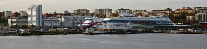 Vista del puerto de Estocolmo desde el Museo Millesgården