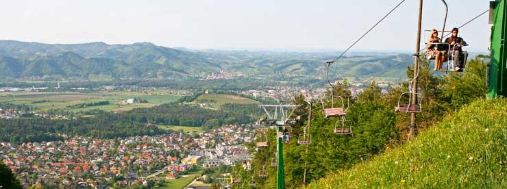Vista de Maribor desde la sierra de Pohorje