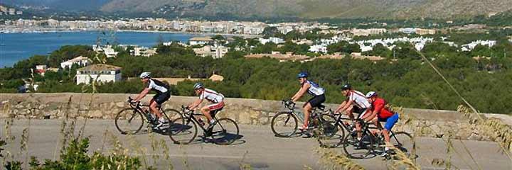Ciclistas Puerto de Pollença