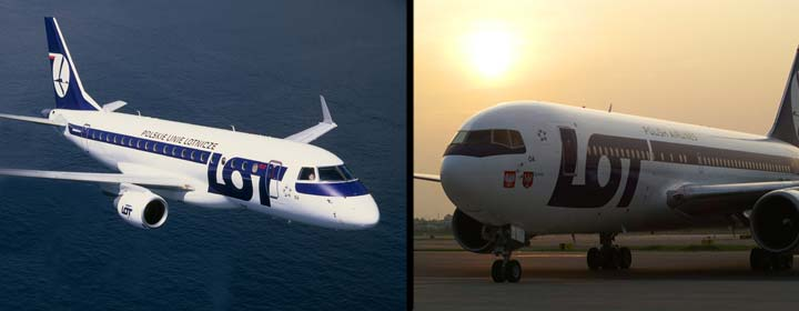 Aviones de LOT, líneas aéreas polacas