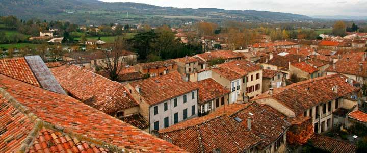 Vista panorámica de La Sorèze desde la torre de San Martín (S.XV)