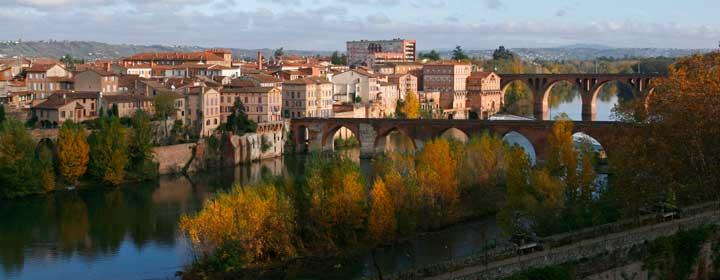 Puentes sobre el río Tarn, en Albi