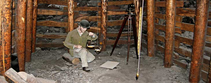 Interior de la mina de Velenje