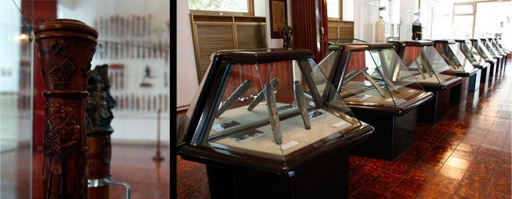Colección de estafetas que se pueden ver en la Casa de las Flores,<br />lugar donde está enterrado Tito.