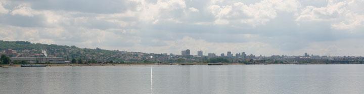 Vistas de<br />Belgrado desde el barco Sirona