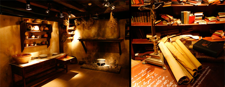 Diferentes estancias del Museo de las Brujas en Zugarramurdi
