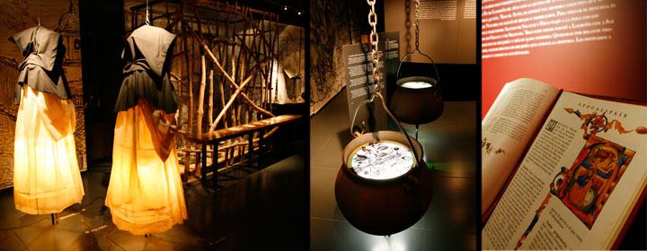 Diferentes estancias del Museo de las Brujas